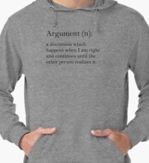 Argument - dictionary definition Lightweight Hoodie