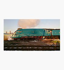 Steam Loco Shunts lincoln Cathederal Photographic Print