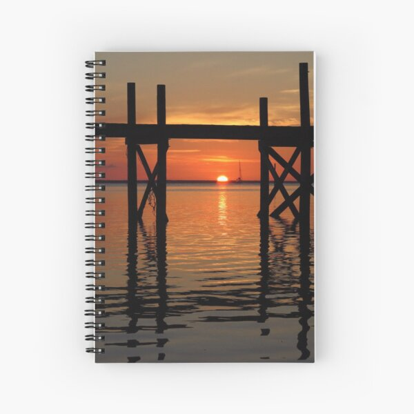 Other Shore Dock at Sunset  Spiral Notebook