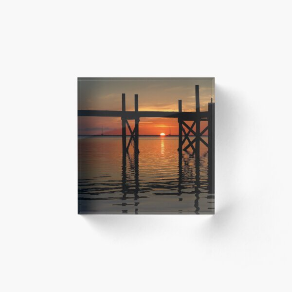 Other Shore Dock at Sunset  Acrylic Block