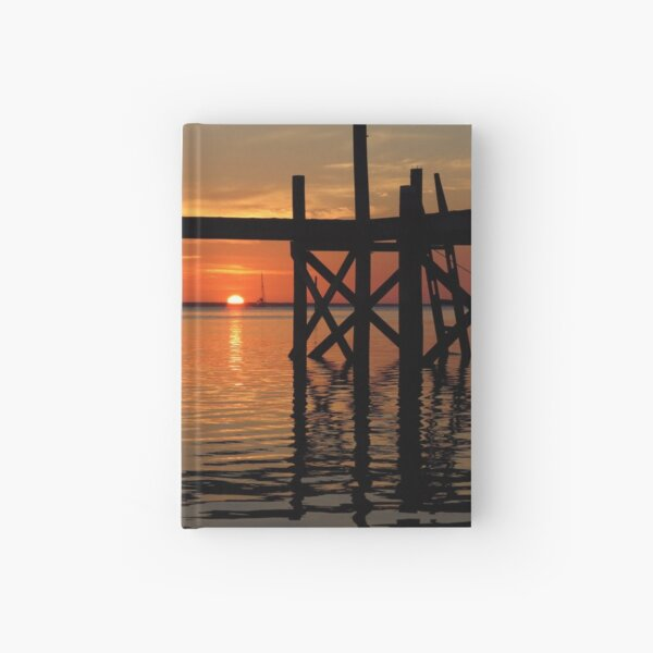 Other Shore Dock at Sunset  Hardcover Journal