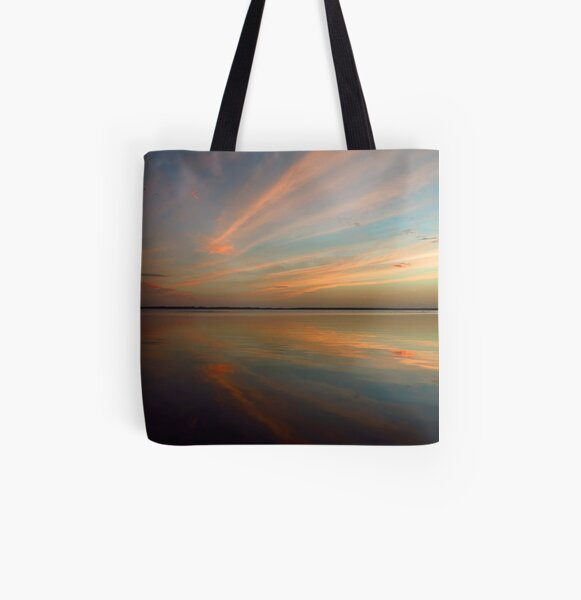 Swirly Pink Sunset All Over Print Tote Bag