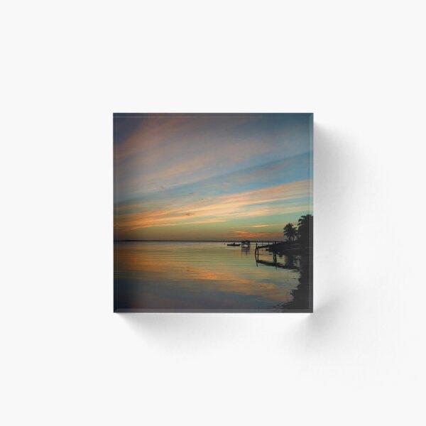 Swirly Pink Sunset (2) Acrylic Block