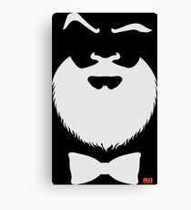 Smart Beard White Canvas Print