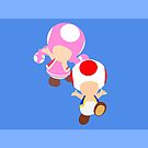 Toad & Toadette (Blue Edition) by samaran