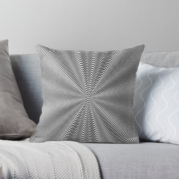 Spiral, helix, scroll, loop, volute, spire, helical, volute Throw Pillow