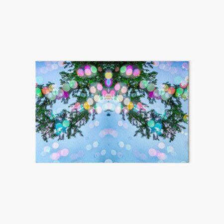 Soap Film - Blue Sky Bubbles Green Pine  Art Board Print