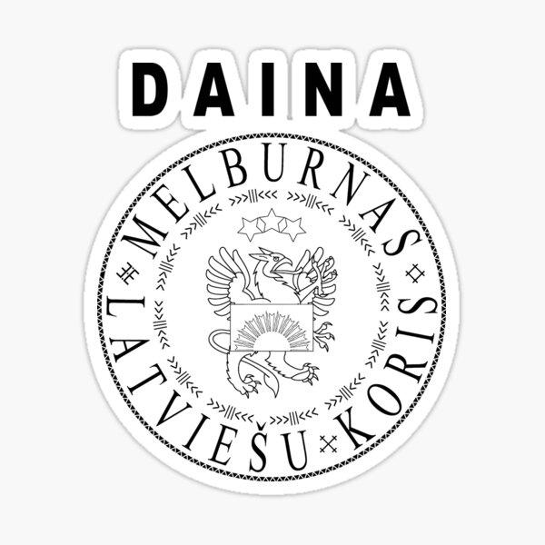 Daina | unofficial | rock'n'roll | black text Sticker