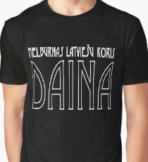Daina   Official   Art Deco   white text Graphic T-Shirt