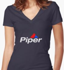 Piper Aircraft Logo - Reverse Women's Fitted V-Neck T-Shirt