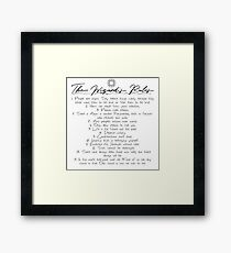 The Wizard's Rules Framed Print