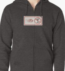 Winking-Eye Alcohol Suggestion Zipped Hoodie