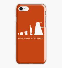 Dalek March of Progress White iPhone Case/Skin
