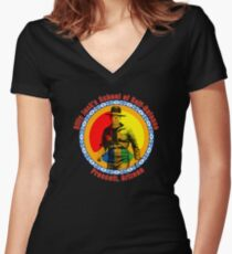 Billy Jack's School of Self Defense Women's Fitted V-Neck T-Shirt