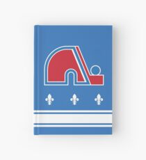 Nordiques Quebec Hockey Team Avalanche Vintage with fleurs de lys Hardcover Journal