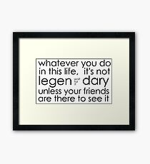 awesome friends. Framed Print