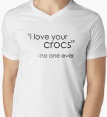 no one likes crocs. Men's V-Neck T-Shirt