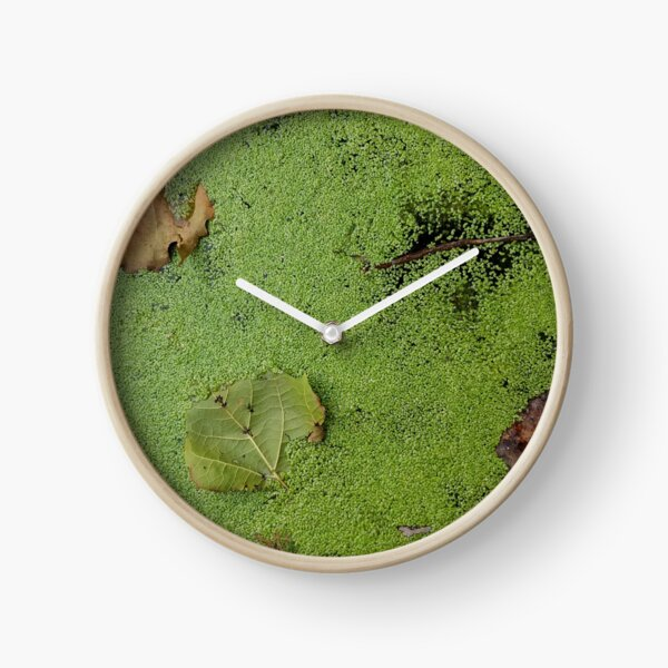 Leaves on Green Clock