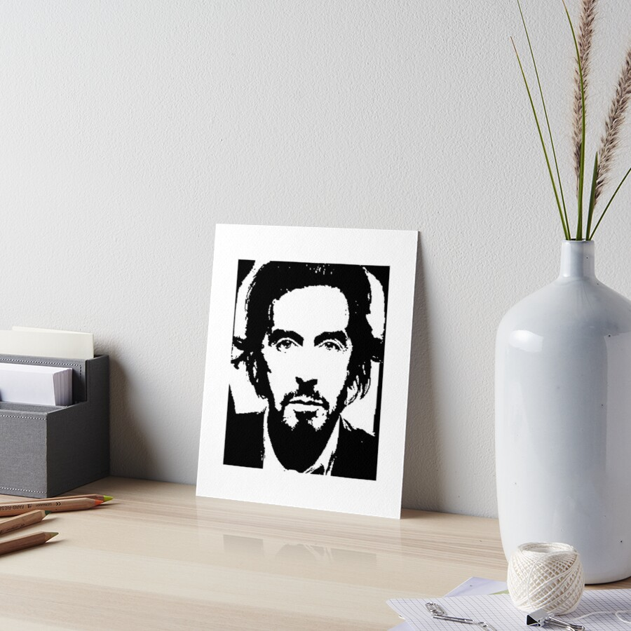 Al Pacino godfather scarface mafia gangster painting black and white ...