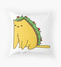 Tacocat: the cat who is a taco Throw Pillow