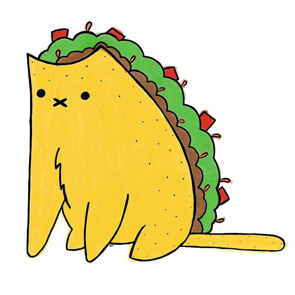 Tacocat: the cat who is a taco by itsaduckblur
