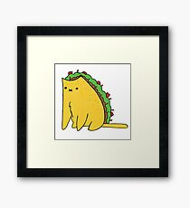 Tacocat: the cat who is a taco Framed Print