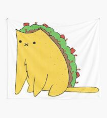 Tacocat: the cat who is a taco Wall Tapestry
