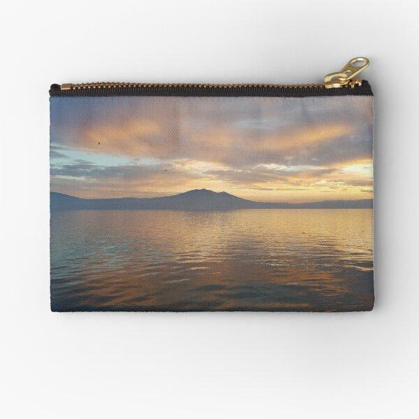 Sunset on Lake Chapala Zipper Pouch