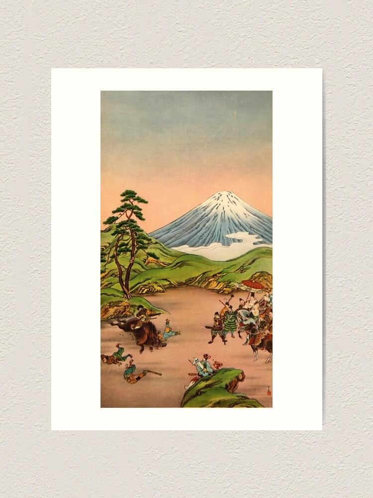 Alternate view of Samurai battle at Mt Fuji Art Print