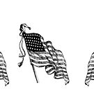 american flag 45 stars, 1896-1908 by coralZ