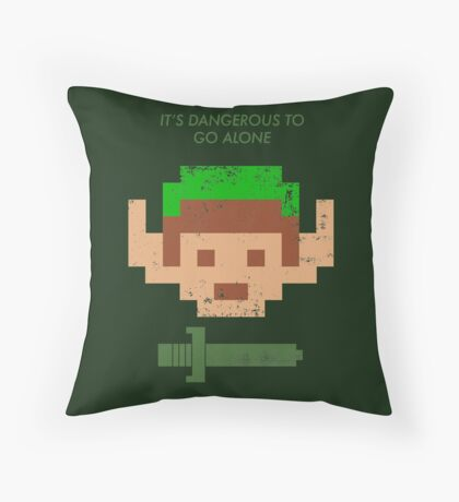 Dangerous to go alone. Throw Pillow