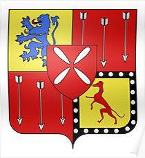 French France Coat of Arms 0381 Blason Antoine VIII Louis Marie de Gramont  Poster