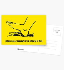 I specifically requested the opposite of this - Don't tread on me parody Gadsden flag with snek - yellow version HD HIGH QUALITY ONLINE STORE Postcards