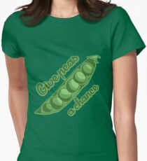 Give peas a chance Women's Fitted T-Shirt