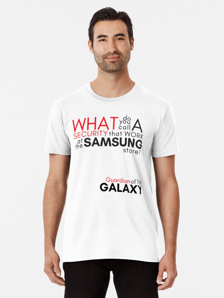'DAD JOKES : SECURITY + SAMSUNG #2' Premium T-Shirt by vitocarleone