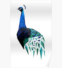 Poly Peacock Poster