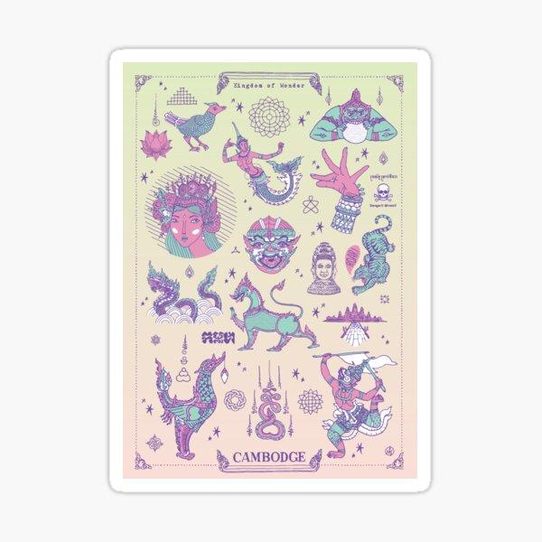 Cambodge - Kingdom of Wonder Sticker
