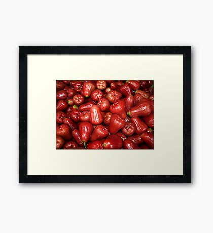 Rose Apples Framed Print