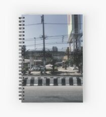 Thailand Street With Lots Of Power Lines Spiral Notebook