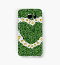 Daisy heart on grass Samsung Galaxy Case/Skin
