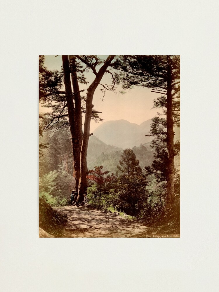 Alternate view of A view of Futagoyama from Hata, Japan Photographic Print