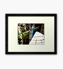 Decayed Fence! Framed Print