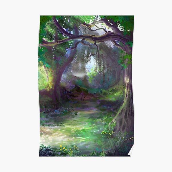 Elven Forest Poster
