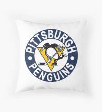 Pittsburgh Penguin Logo Throw Pillow