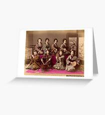 Group of Geisha playing music Greeting Card