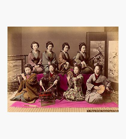 Group of Geisha playing music Photographic Print
