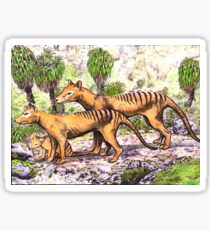 Thylacine family Sticker