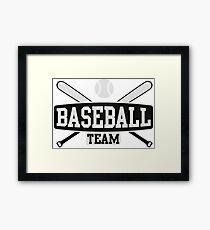 Baseball Team Framed Print