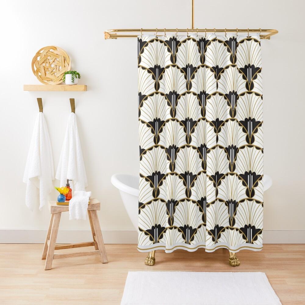 A Tender Curiousity - art deco Shower Curtain