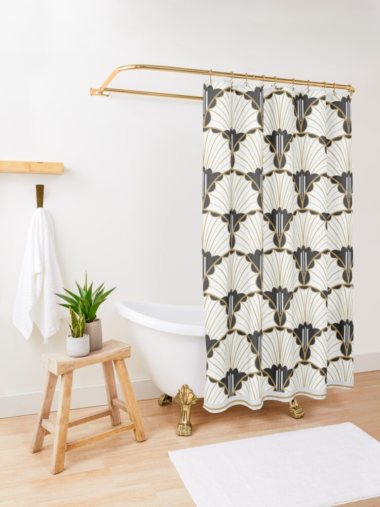 Alternate view of A Tender Curiousity - art deco Shower Curtain